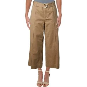 Ralph Lauren belt cropped khaki pants capris 2 4